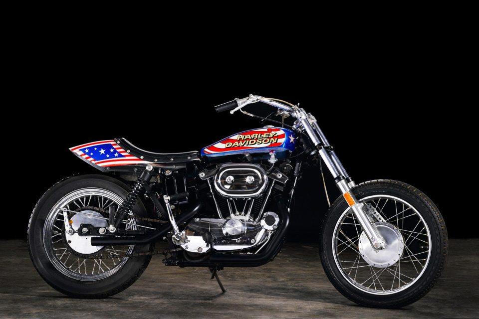 Harley Davidson Xl1000 Used Evel Knievel Viva Motorbike: Evel Knievel Bike At Bonham's Las Vegas Moto Auction